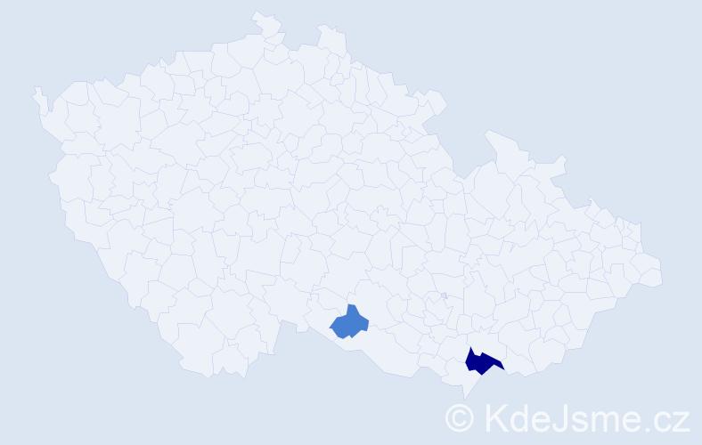 Příjmení: 'Gmytriak', počet výskytů 6 v celé ČR