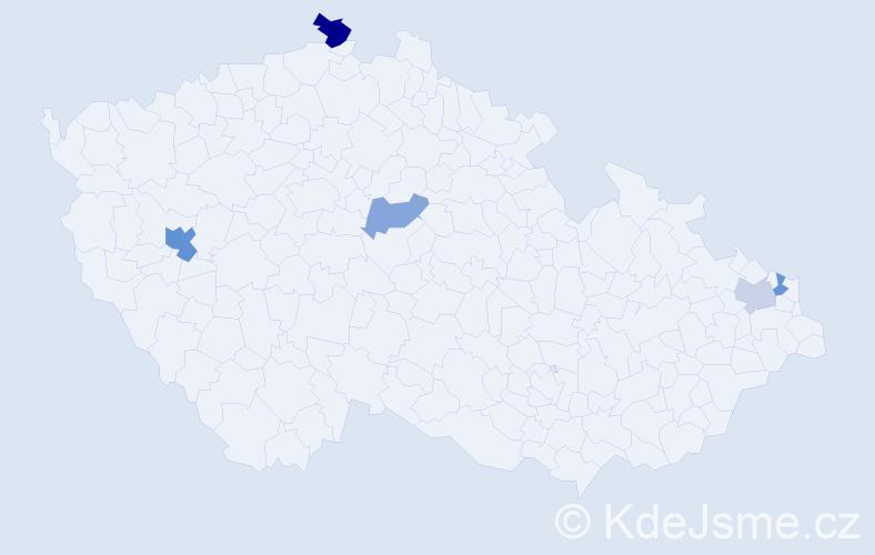Příjmení: 'Gemer', počet výskytů 8 v celé ČR