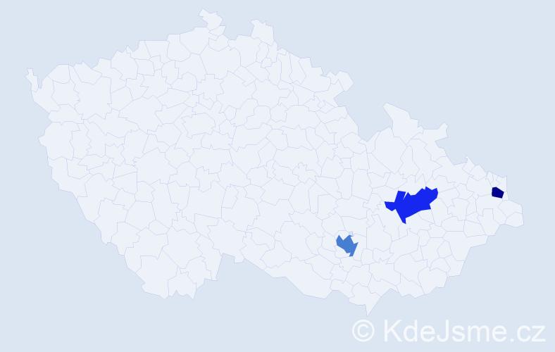 Příjmení: 'Eštvanová', počet výskytů 7 v celé ČR