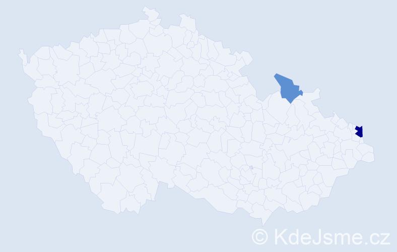 Příjmení: 'Fajkoszová', počet výskytů 5 v celé ČR
