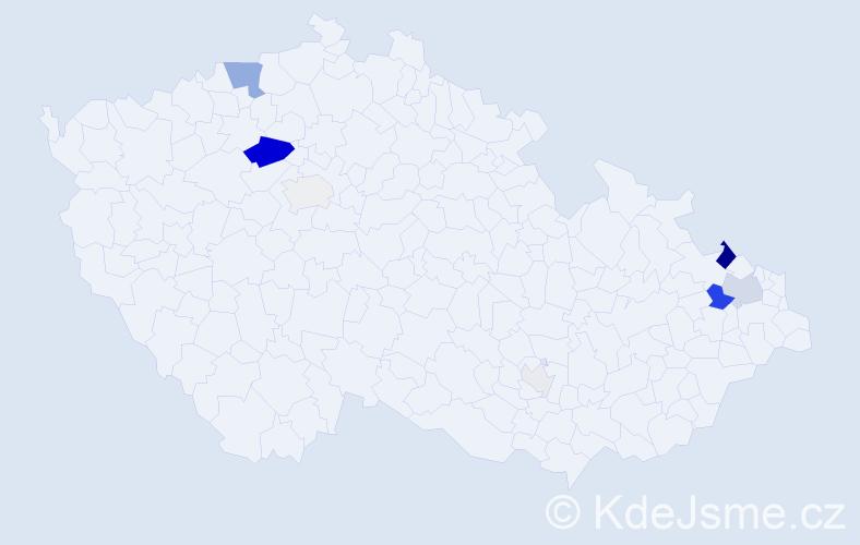 Příjmení: 'Englisch', počet výskytů 26 v celé ČR