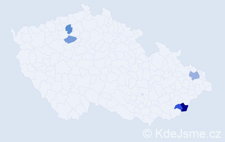Příjmení: 'Čislikovský', počet výskytů 8 v celé ČR