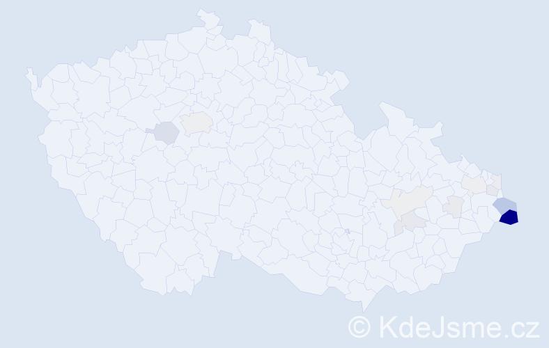 Příjmení: 'Gazur', počet výskytů 49 v celé ČR