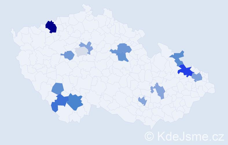 Příjmení: 'Jalč', počet výskytů 28 v celé ČR