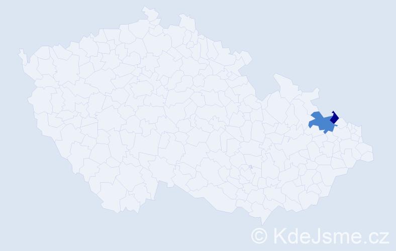 Příjmení: 'Bollek', počet výskytů 3 v celé ČR
