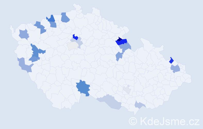 Příjmení: 'Christophová', počet výskytů 43 v celé ČR