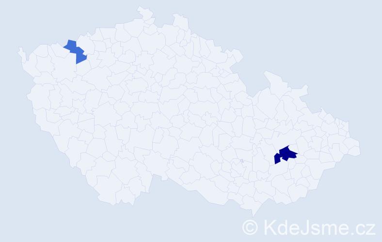 Příjmení: 'Breczková', počet výskytů 4 v celé ČR