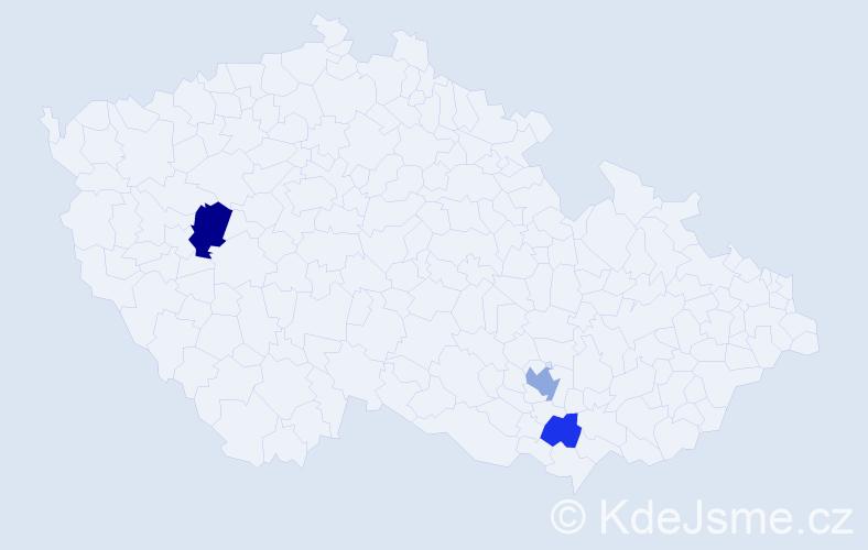 Příjmení: 'Andoniadis', počet výskytů 5 v celé ČR