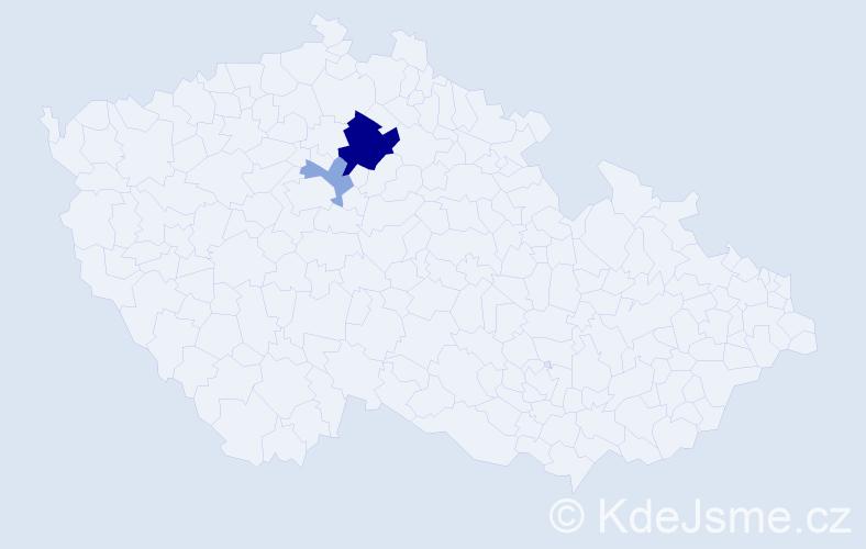 Příjmení: 'Annamichlová', počet výskytů 6 v celé ČR