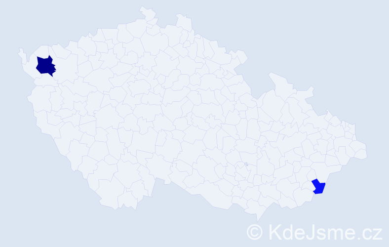 Příjmení: 'Haberer', počet výskytů 5 v celé ČR