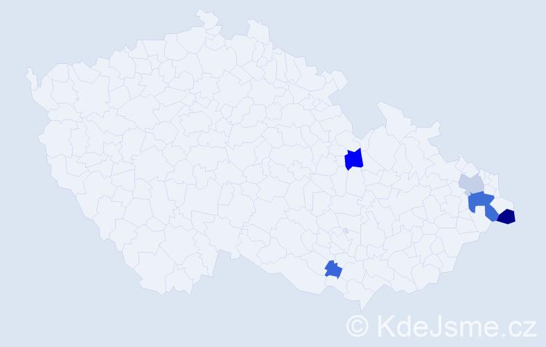 Příjmení: 'Boščík', počet výskytů 31 v celé ČR