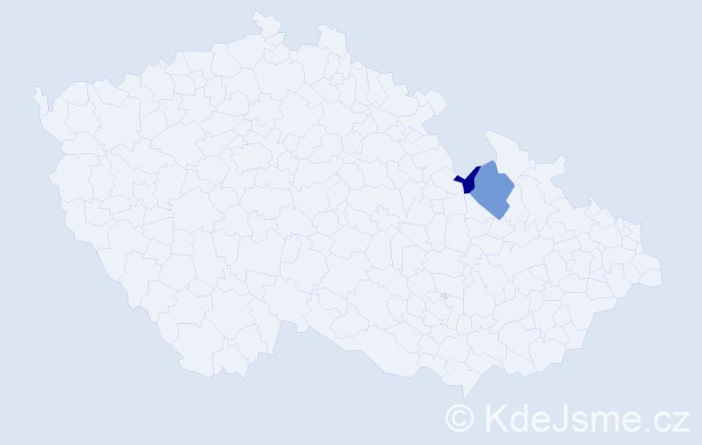 Příjmení: 'Hinkelmann', počet výskytů 7 v celé ČR
