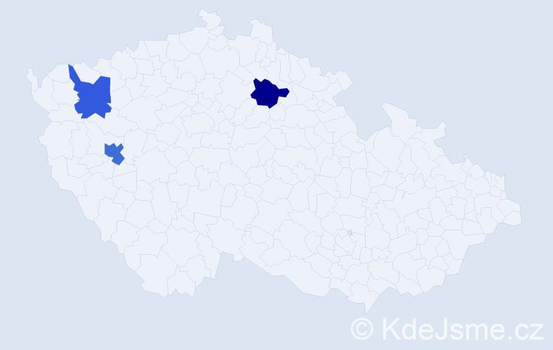 Příjmení: 'Lami', počet výskytů 7 v celé ČR