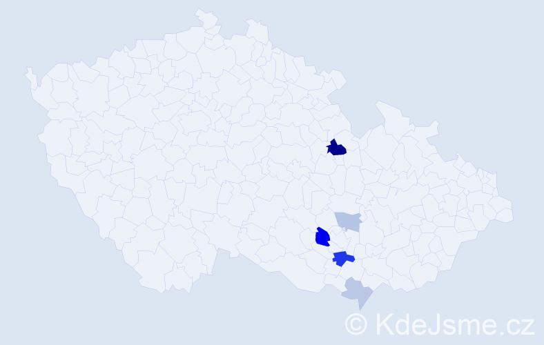 Příjmení: 'Knőtigová', počet výskytů 12 v celé ČR