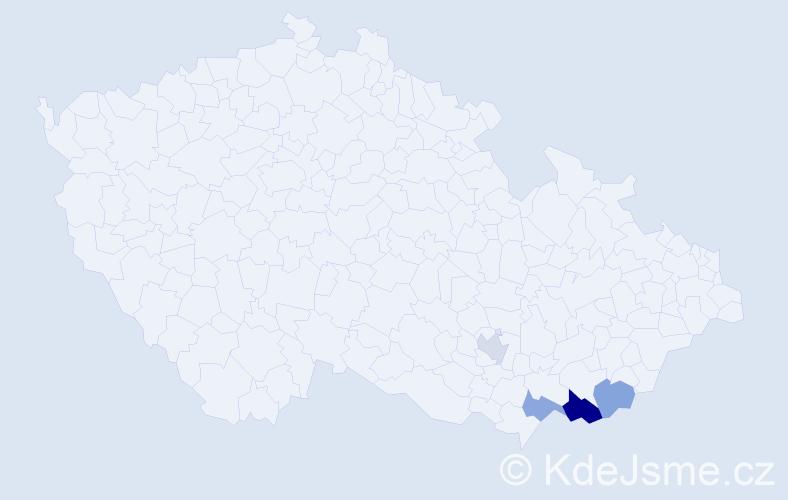 Příjmení: 'Lancůchová', počet výskytů 12 v celé ČR