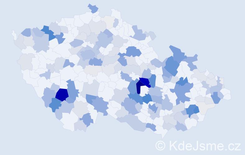 Příjmení: 'Hejtmánková', počet výskytů 665 v celé ČR