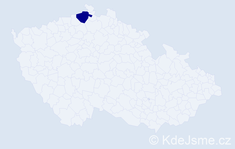 Příjmení: 'Jakábová', počet výskytů 1 v celé ČR