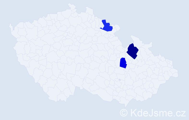 Příjmení: 'Goža', počet výskytů 6 v celé ČR