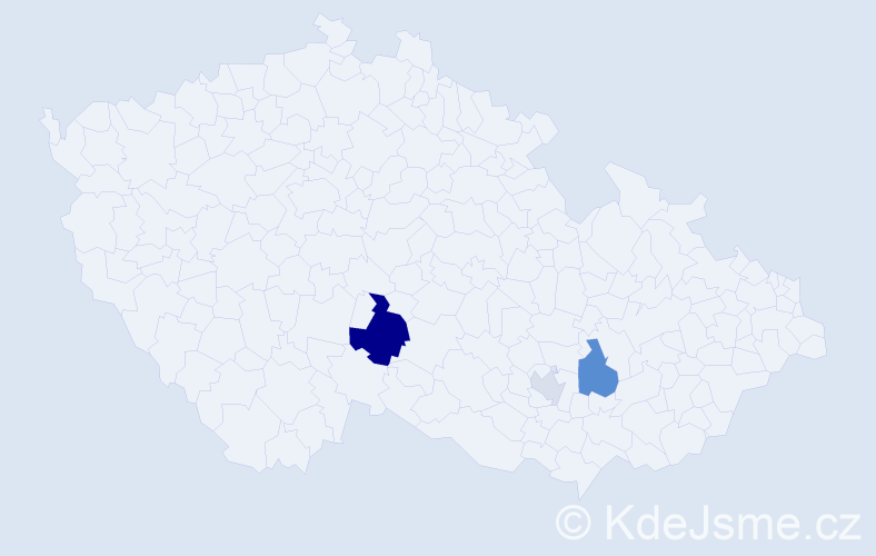 Příjmení: 'Cézarová', počet výskytů 7 v celé ČR