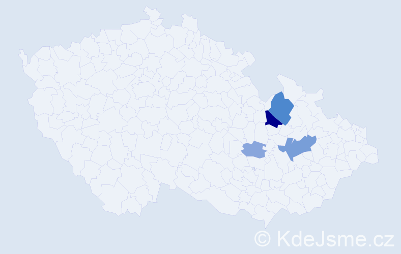 Příjmení: 'Baldermann', počet výskytů 10 v celé ČR