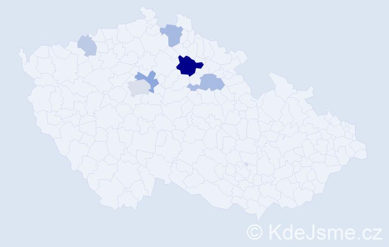 Příjmení: 'Karpašová', počet výskytů 17 v celé ČR