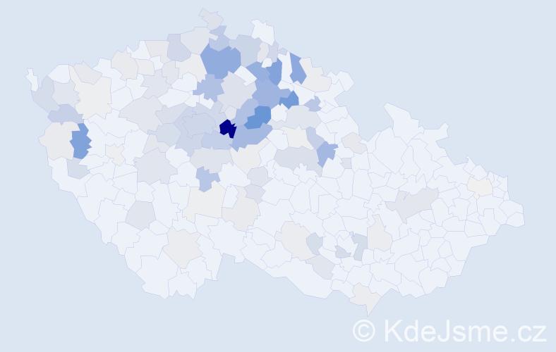 Příjmení: 'Houžvička', počet výskytů 368 v celé ČR