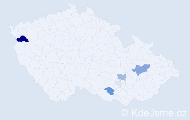 Příjmení: 'Grunda', počet výskytů 9 v celé ČR