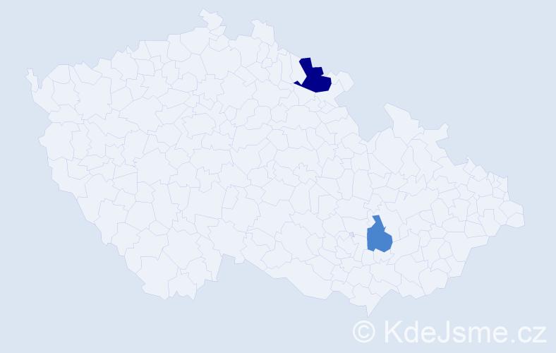 Příjmení: 'Čalovka', počet výskytů 7 v celé ČR