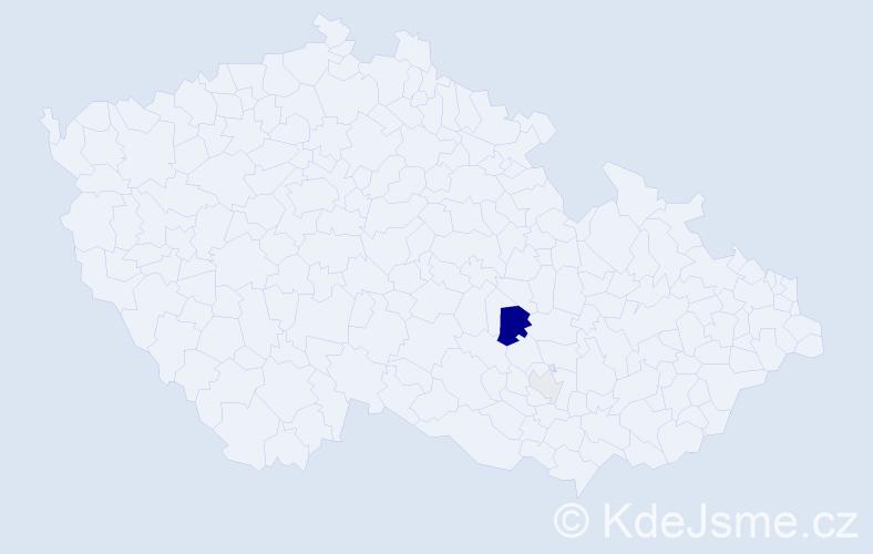 Příjmení: 'Balievová', počet výskytů 11 v celé ČR