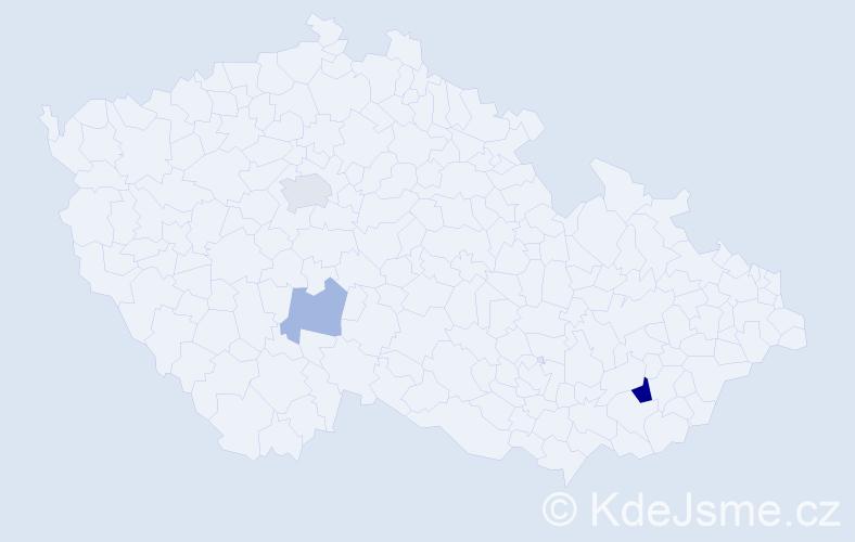 Příjmení: 'Jakubowicz', počet výskytů 6 v celé ČR