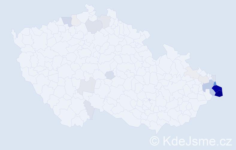 Příjmení: 'Bilko', počet výskytů 127 v celé ČR