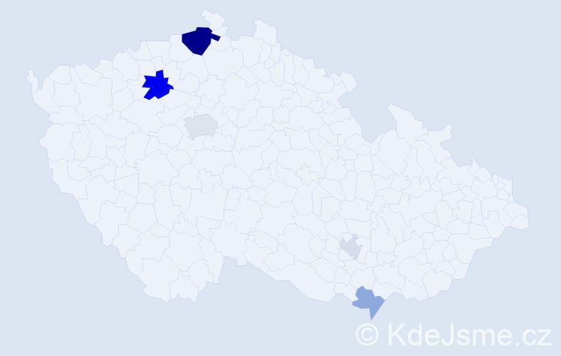 Příjmení: 'Driák', počet výskytů 13 v celé ČR