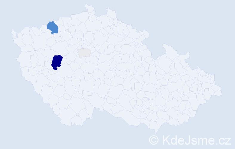 Příjmení: 'Elšlégr', počet výskytů 8 v celé ČR