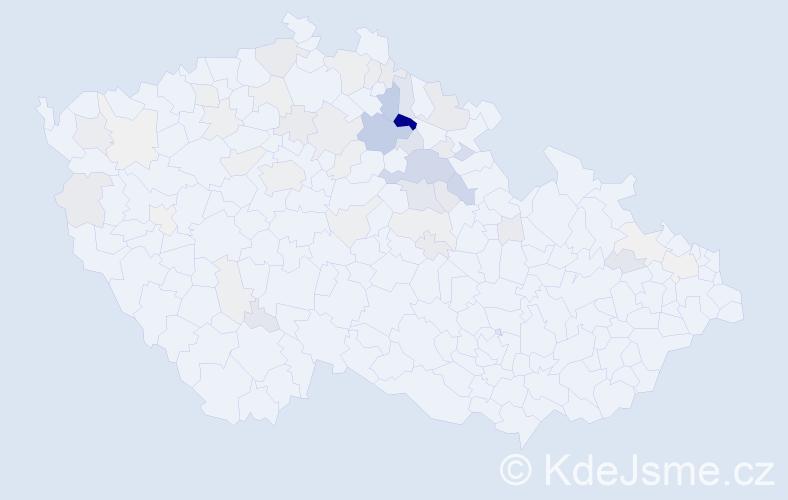 Příjmení: 'Brendl', počet výskytů 150 v celé ČR