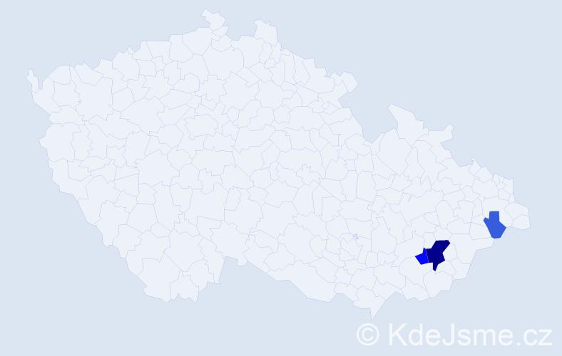 Příjmení: 'Kartousek', počet výskytů 9 v celé ČR