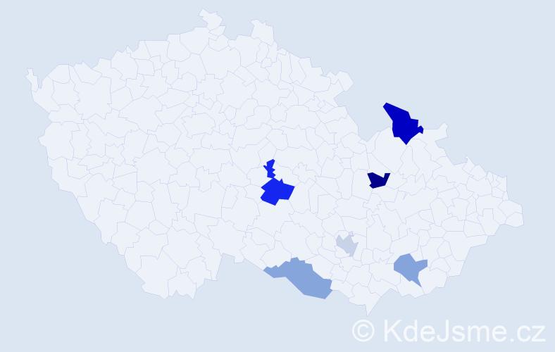 Příjmení: 'Hlíva', počet výskytů 8 v celé ČR