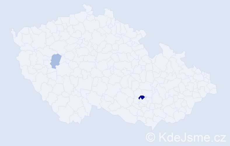Příjmení: 'Čikov', počet výskytů 4 v celé ČR