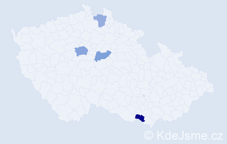 Příjmení: 'Kulfánek', počet výskytů 11 v celé ČR