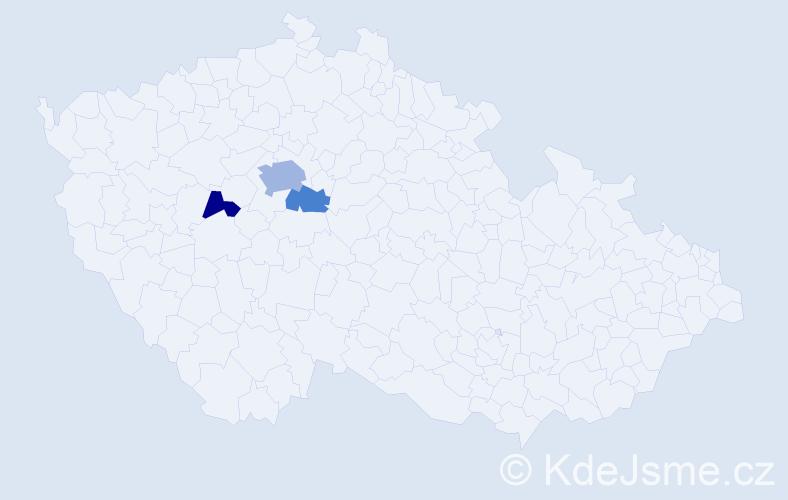 Příjmení: 'Grýgera', počet výskytů 6 v celé ČR