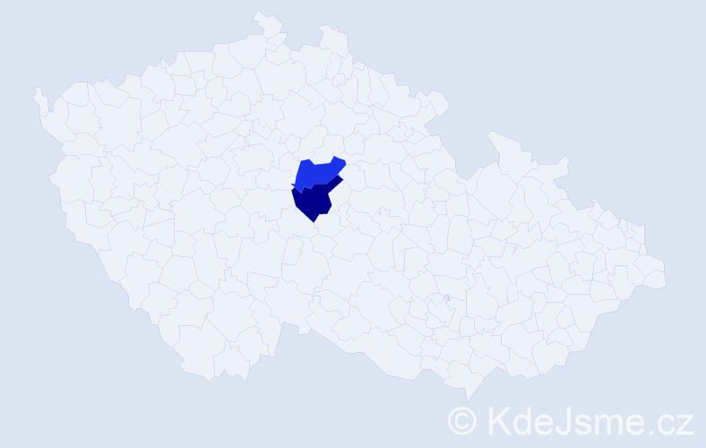 Příjmení: 'Fabcová', počet výskytů 2 v celé ČR