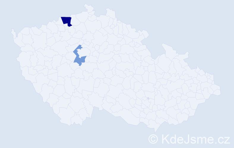 Příjmení: 'Efe', počet výskytů 4 v celé ČR