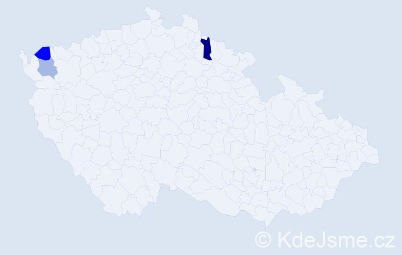 Příjmení: 'Ašverová', počet výskytů 4 v celé ČR