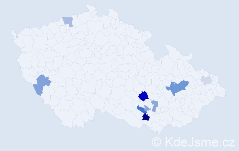 Příjmení: 'Iskra', počet výskytů 11 v celé ČR