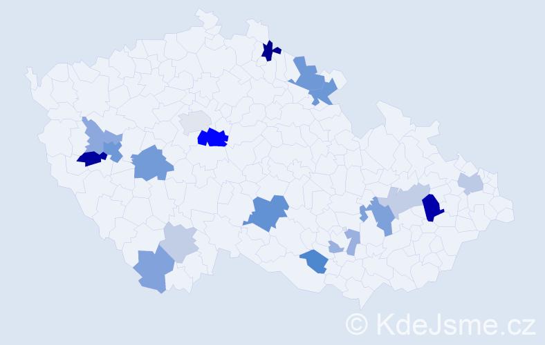 Příjmení: 'Buranská', počet výskytů 36 v celé ČR