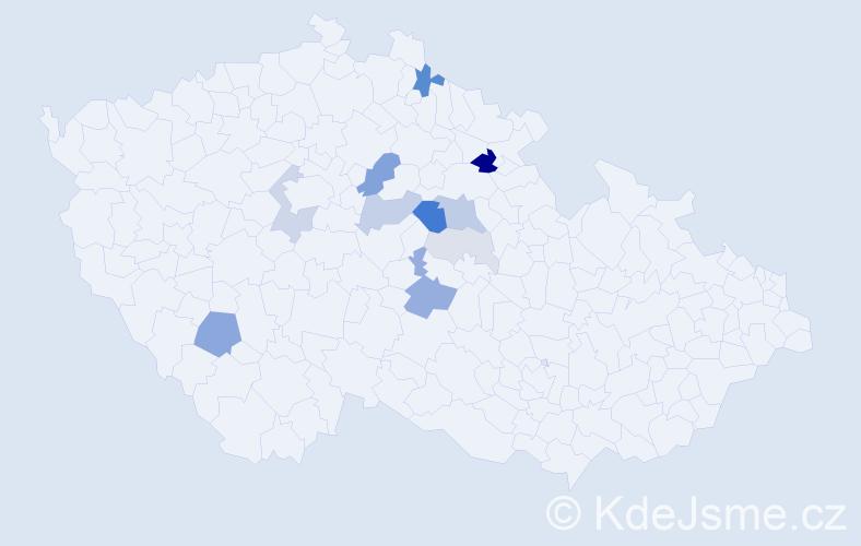 Příjmení: 'Čenovský', počet výskytů 30 v celé ČR