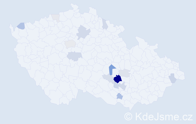 Příjmení: 'Cecava', počet výskytů 46 v celé ČR