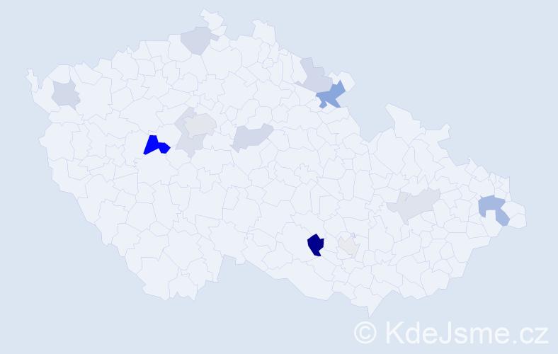 Příjmení: 'Kolesnikov', počet výskytů 25 v celé ČR