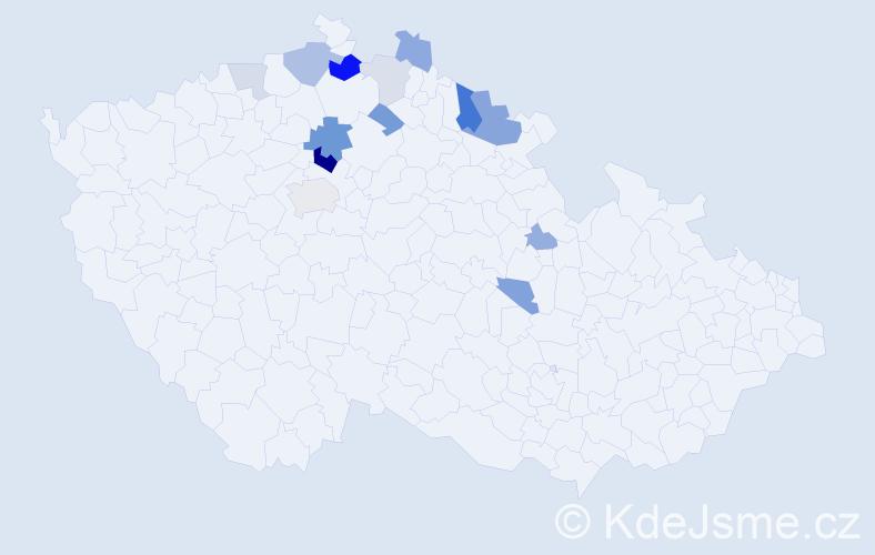Příjmení: 'Kleinert', počet výskytů 29 v celé ČR