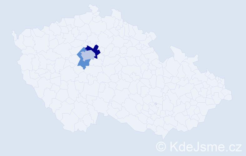 Příjmení: 'Kahoferová', počet výskytů 5 v celé ČR