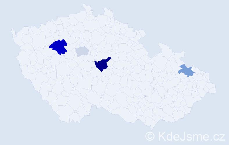 Příjmení: 'Joppová', počet výskytů 7 v celé ČR